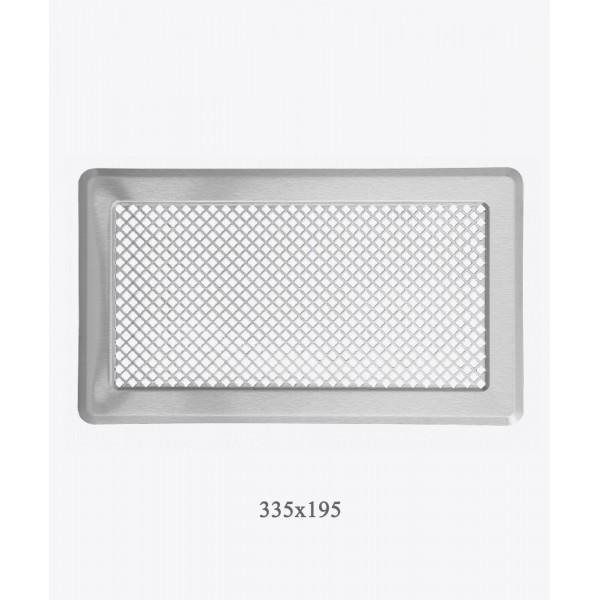 Вентиляційна решітка Darco Р4, 195х335 мм, хром