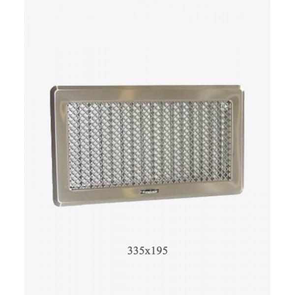 Вентиляційна решітка Darco Рж4, 195х335 мм,  хром