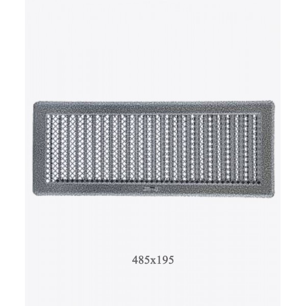 Вентиляційна решітка Darco Рж5, 195х485 мм, ант. срібло