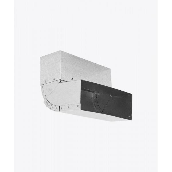 Коліно вертикальне регульоване 0-110º KSSN, стіна-стеля