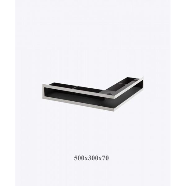 Вентиляційна решітка V-OPEN-L 500х300/70, хром