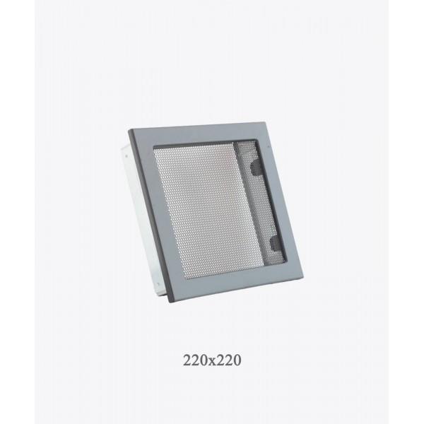 Вентиляційна решітка з сіткою Ventlab, 220х220, чорна