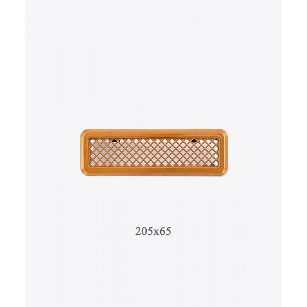 Вентиляційна решітка Darco Р0, 65х205 мм, лак. мідь