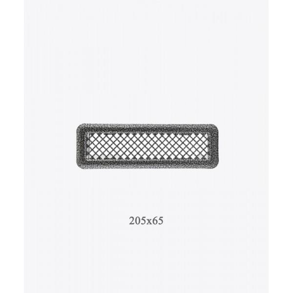 Вентиляційна решітка Darco Р0, 65х205 мм, ант. срібло