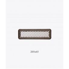 Вентиляційна решітка Darco Р0, 65х205 мм, ант. латунь