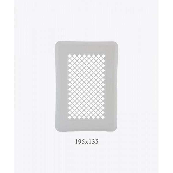 Вентиляційна решітка Darco Р1, 135х195 мм, біла