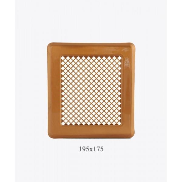 Вентиляційна решітка Darco Р2, 175х195мм, лак. мідь