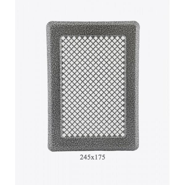 Вентиляційна решітка Darco Р3, 175х245 мм, ант. срібло