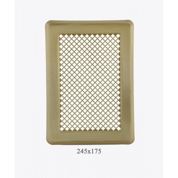 Вентиляційна решітка Darco Р3, 175х245 мм, лак. латунь
