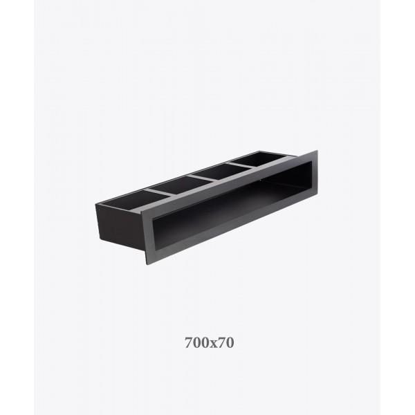 Вентиляційна решітка V-OPEN, 700х70 мм, чорна