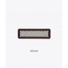 Вентиляційна решітка Darco Р0, 65х205 мм, ант. мідь