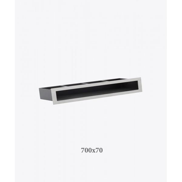 Вентиляційна решітка V-OPEN, 700х70 мм, хром