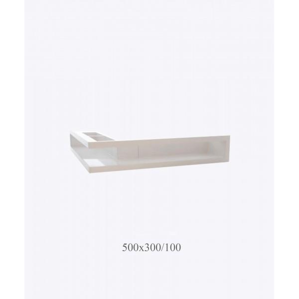Вентиляційна решітка V-OPEN-L 500х300/100, біла