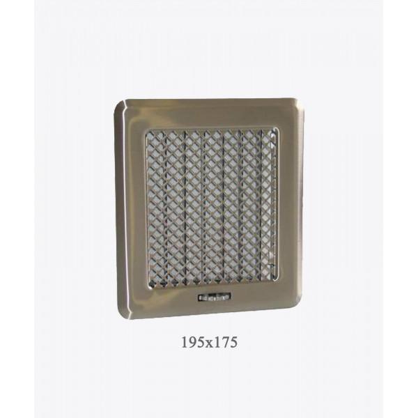 Вентиляційна решітка Darco Рж2, 175х195 мм, хром