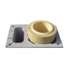 Одноканальний керамічний димохід Schiedel Rondo Plus, 1м (з вентиляцією)