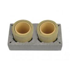 Двоканальний керамічний димохід Schiedel, 1м (без вентиляції)