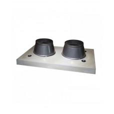 Двоканальний верхній комплект для керамічного димоходу Schiedel APIP (без вентиляції)