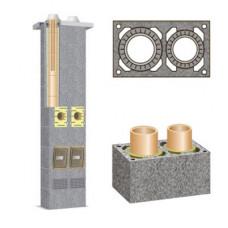 Основа двоканального керамічного димохода Schiedel Rondo Plus, 3м (без вентиляції)
