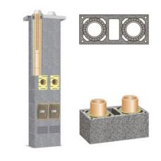 Основа двоканального керамічного димохода Schiedel Rondo Plus, 3м (з вентиляцією)