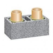 Двоканальний керамічний димохід Schiedel, 1м (з вентиляцією)
