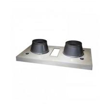 Двоканальний верхній комплект для керамічного димоходу Schiedel Final (з вентиляцією)